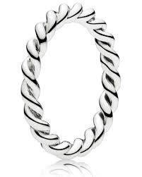pandora verlobungsring pandora kombinierbarer ring metallperlen ring mit rut damen