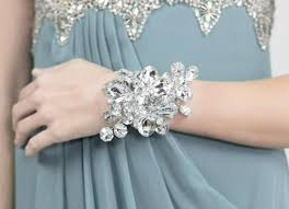 wrist corsage for prom wrist corsage silver duo mirrored flower wedding