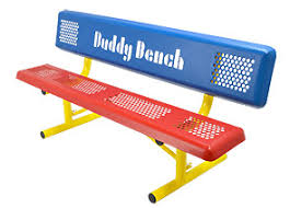 Bench Prices Perforated Steel Park Style Buddy Bench Belson Outdoors