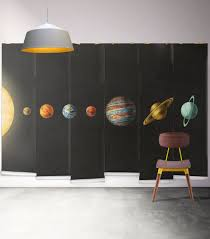 solar system space planet wall mural milton king solar system wall mural from muffin mani