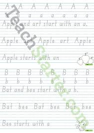 alphabet handwriting sheets individual