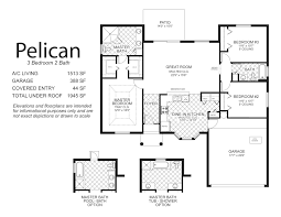 Plan 3 by House Plans 3 Bedroom 2 5 Bath One Floor Bedrooms Ranch Floors 3