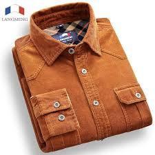 discount mens long sleeve corduroy shirts 2017 mens long sleeve