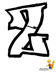 letter graffiti z coloring page at yescoloring http www