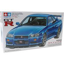tamiya nissan skyline gt r v spec r34 model kit 1 24 hobbycraft