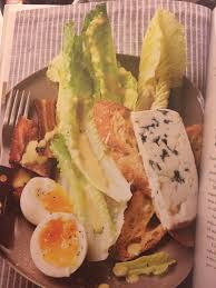 egg salad ina garten ina garten ceasar salad set up blue cheese slice soft boiled egg