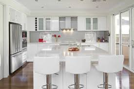 glossy white kitchen cabinets ideas with white countertops home