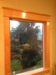 craftsman vertical grain douglas fir door with white painted trim