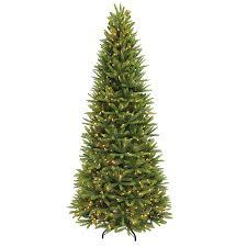 shop puleo international 9 ft pre lit grand fir slim artificial