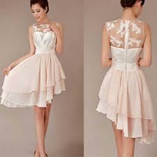 reasonable bridesmaid dresses cheap pretty junior blush pink hi lo knee length discount