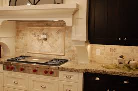 kitchen backsplash travertine travertine tile backsplash tiles give a clean contemporary