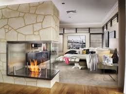 Kitchen Fireplace Design Ideas by 8 Kitchen Charming Open Plan Design With Comfy Cream Bed The