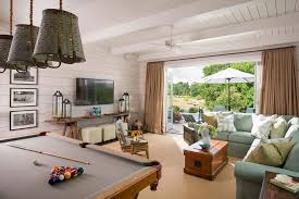 Pool Table In Living Room Family Room Farmhouse With Pool Table - Outdoor family rooms
