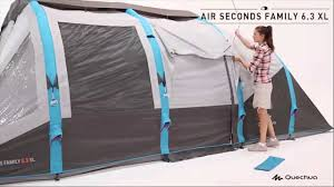 tende da ceggio 6 posti quechua tenda air seconds family 6 3 xl
