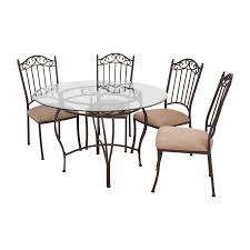 72 off wrought iron round glass table and chairs tables