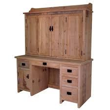rustic computer desk with hutch 43 7360 amish oak cabin furniture