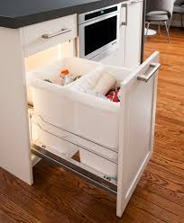 waste bin pullout unit by kessebohmer clever storage in chrome