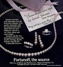 Fortunoff Backyard Store Wayne Nj Vintage Jewelry Advertising Found In Mom U0027s Basement