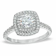 zales engagement rings 1 1 4 ct t w square frame engagement ring in 14k