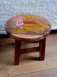 solid wood kids childrens childs wooden stool chair boys u0026 girls