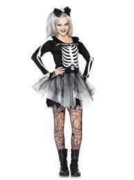 Skeleton Costume Teen Sassy Skeleton Costume J48067 Fancy Dress Ball