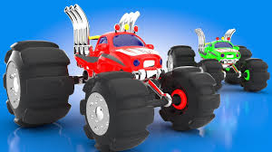 monster truck racing kids learn colors monster trucks