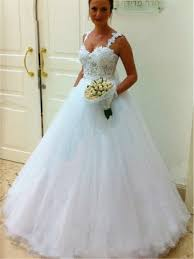 Wedding Dresses With Straps Cheap Ball Gown Wedding Dresses Fashion Wedding Gowns Online For