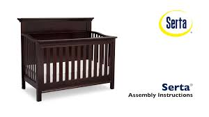 Stork Craft Tuscany 4 In 1 Convertible Crib by Serta Fairmount 4 In 1 Crib Assembly Video Youtube