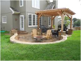 backyards wondrous backyard design idea create a sunken fire pit