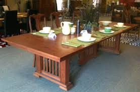 mission style dining table round mission style kitchen table
