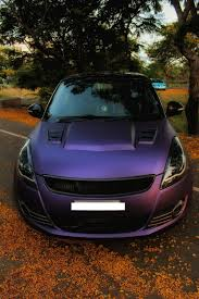 matte purple jeep maruti swift matte purple wrap and sporty body kit front indian