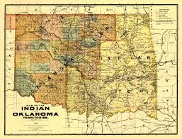 Map Of Oklahoma State by Old Map Oklahoma Indian Territory 1894