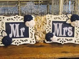 wedding chair signs royal denim blue u0026 ivory wedding decoration