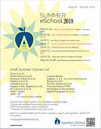health class online high school 2018 summer session course list flyer appleton eschool