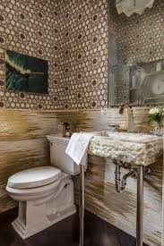 sophisticated powder room with mosaic tiles for decoration mosaic