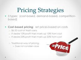 types and prices pricing strategy ppt