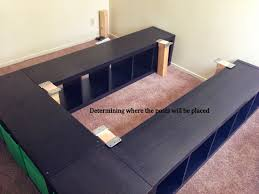 Diy Platform Bed Frame With Storage by Expedit Queen Platform Bed Ikea Hackers Ikea Hackers