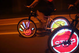 cdycam 128 rgb led bicycle spokes lights color
