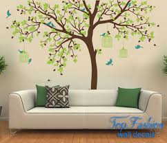 popular nursery wall mural decals tree birds cage stickers popular nursery wall mural decals tree birds cage stickers removable vinyl blue green brown decoration family room