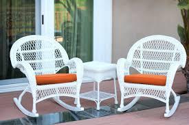 Wicker Rocker Patio Furniture - jeco inc santa maria wicker 3 piece rocker seating group with