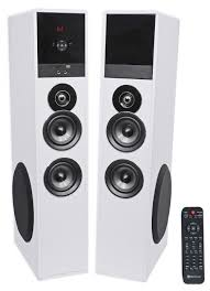 sony home theater with tower speakers rockville tm8w white powered home theater tower speakers 8