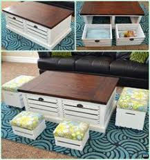 How To Make Wine Crate Coffee Table - cliff spencer wine oak modular cube use as coffee table u0026 stools