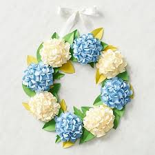 hydrangea wreath hydrangea wreath paper source