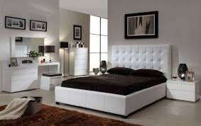 Bedroom  Appelaing Feminim White Bedroom Sets With White High - Tufted headboard bedroom sets