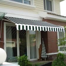 Retractable Porch Awnings Manual Patio 8 2 U0027 6 5 U0027 Retractable Sunshade Awning Canopies