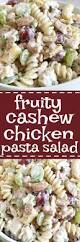 Creamy Pasta Salad Recipes by Fruity Cashew Chicken Pasta Salad Together As Family