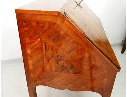 bureau marqueterie bureau de pente marqueterie noyer bois de bronze hache xviiiè