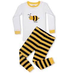 leveret boys bumble bee 2 pajama 100