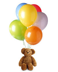 teddy in a balloon gift teddy and balloons gift usa and canada delivery