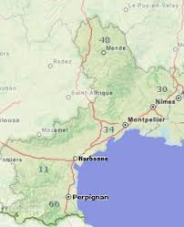 map of perpignan region languedoc regional guide and tourist attractions southern